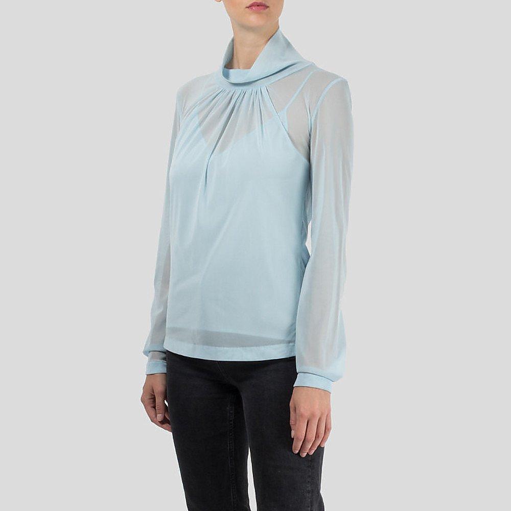 Victoria Beckham Sheer Blouse with Vest
