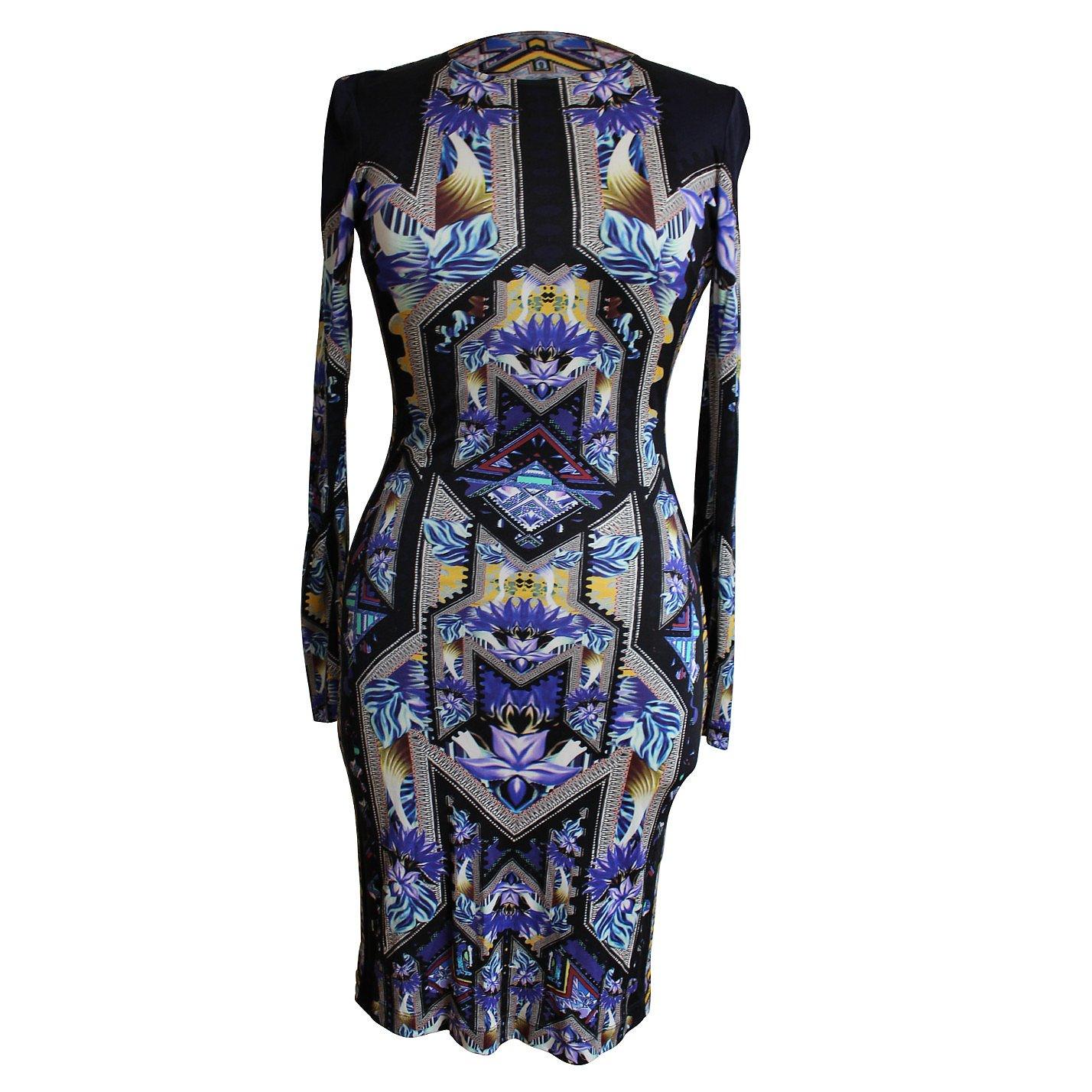 Mary Katrantzou Patterned Long-Sleeve Dress