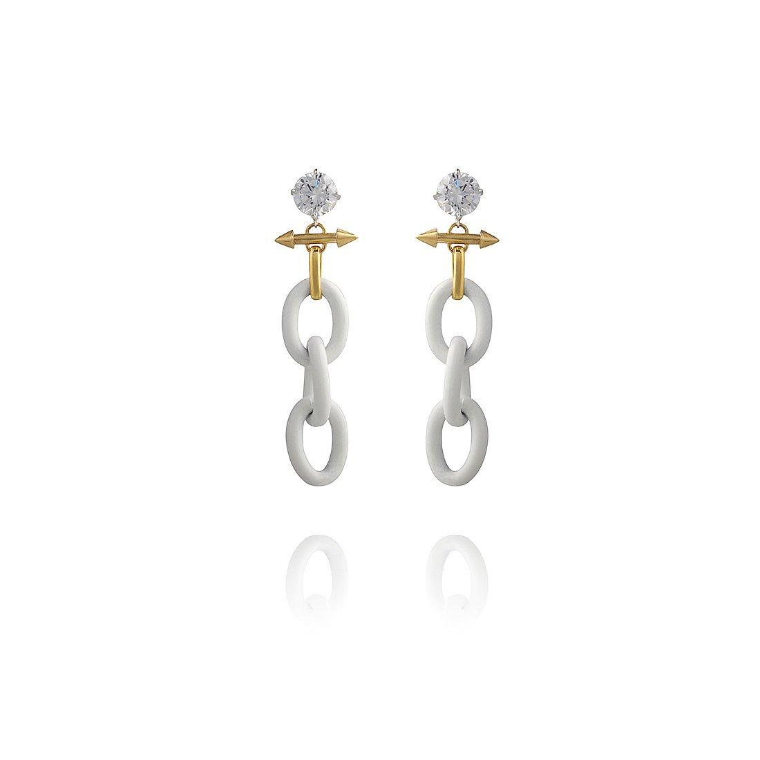 Fenton Triple Link Spike Earrings