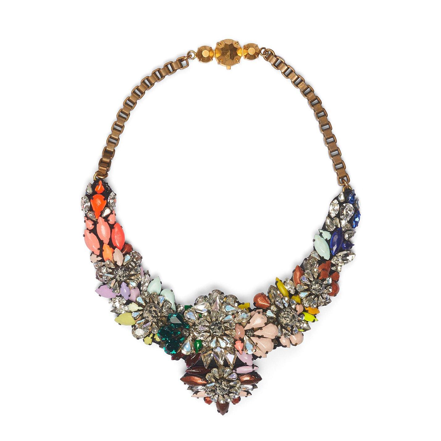 Shourouk Crystal Bib Necklace