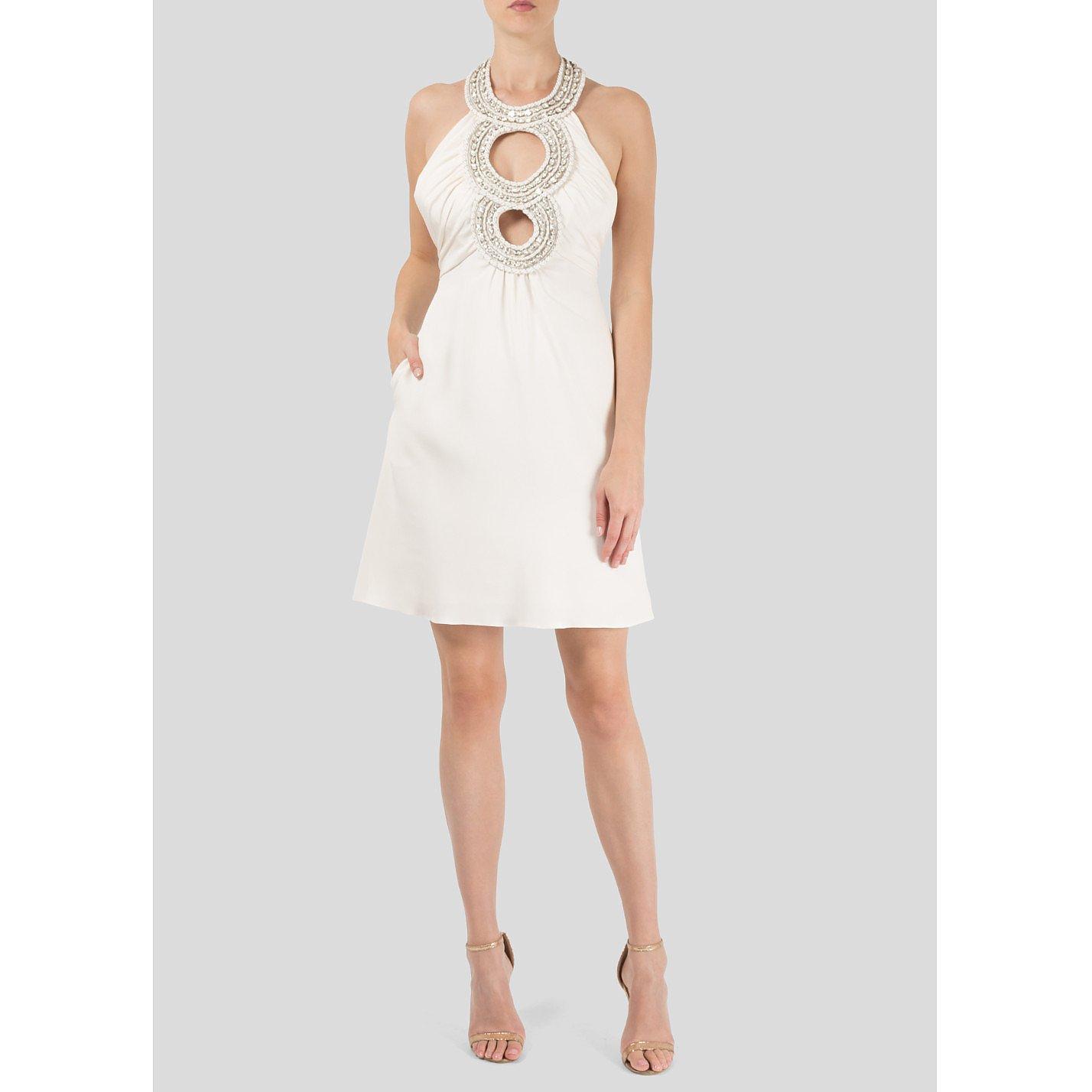 Lois Azzaro Embellished Halter Neck Mini Dress