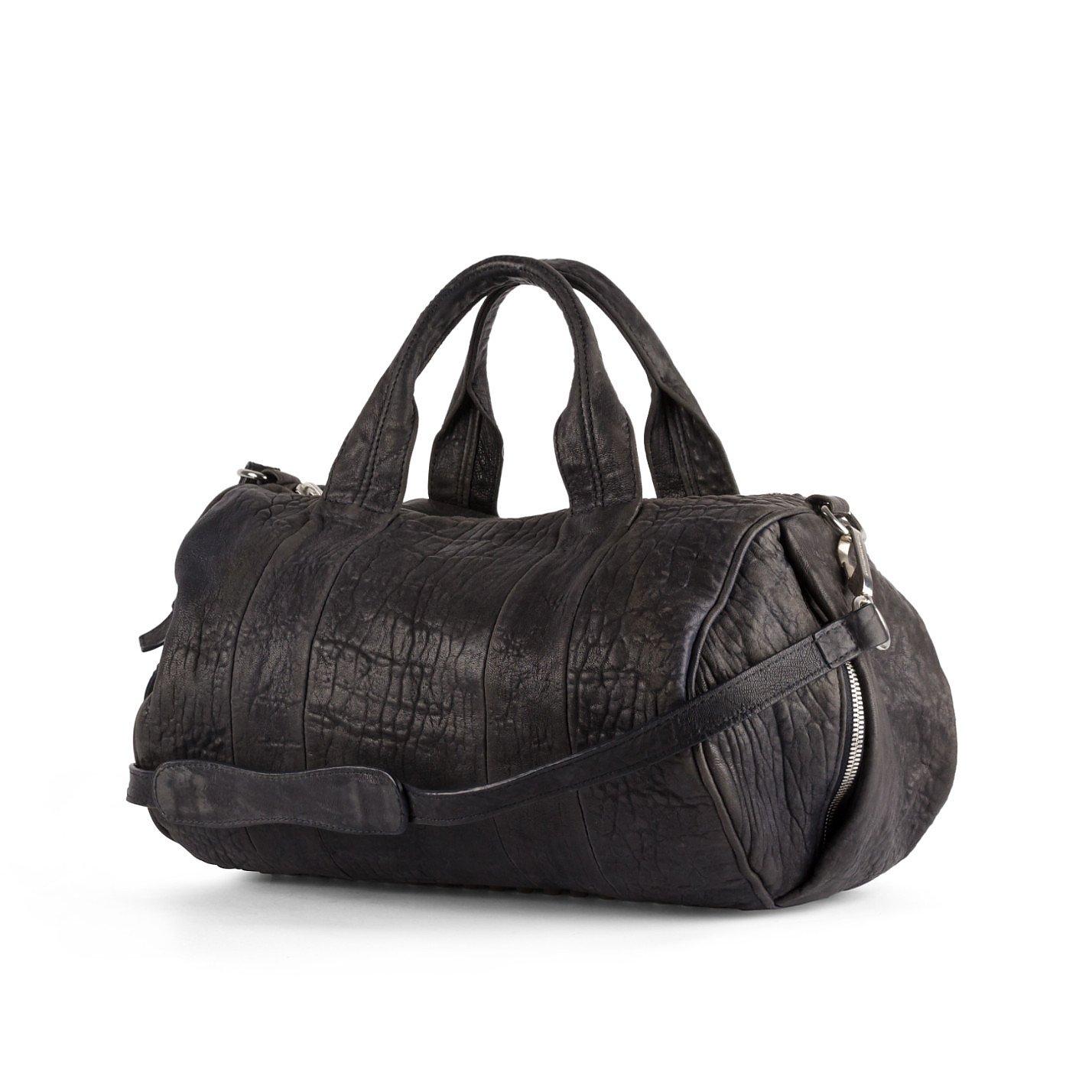Alexander Wang Rockie Pebbled Leather Stud-Bottom Satchel Bag