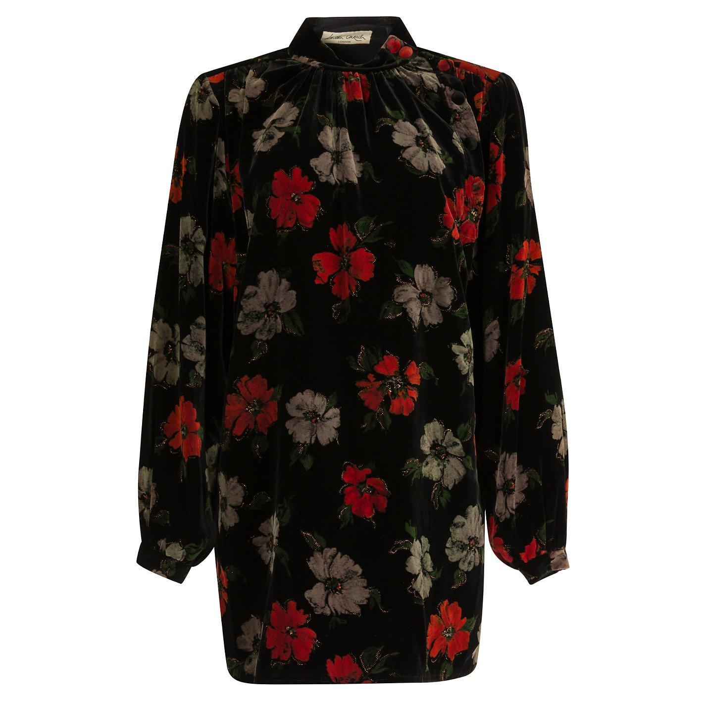 Lindka Cierach Floral Velvet Tunic Dress