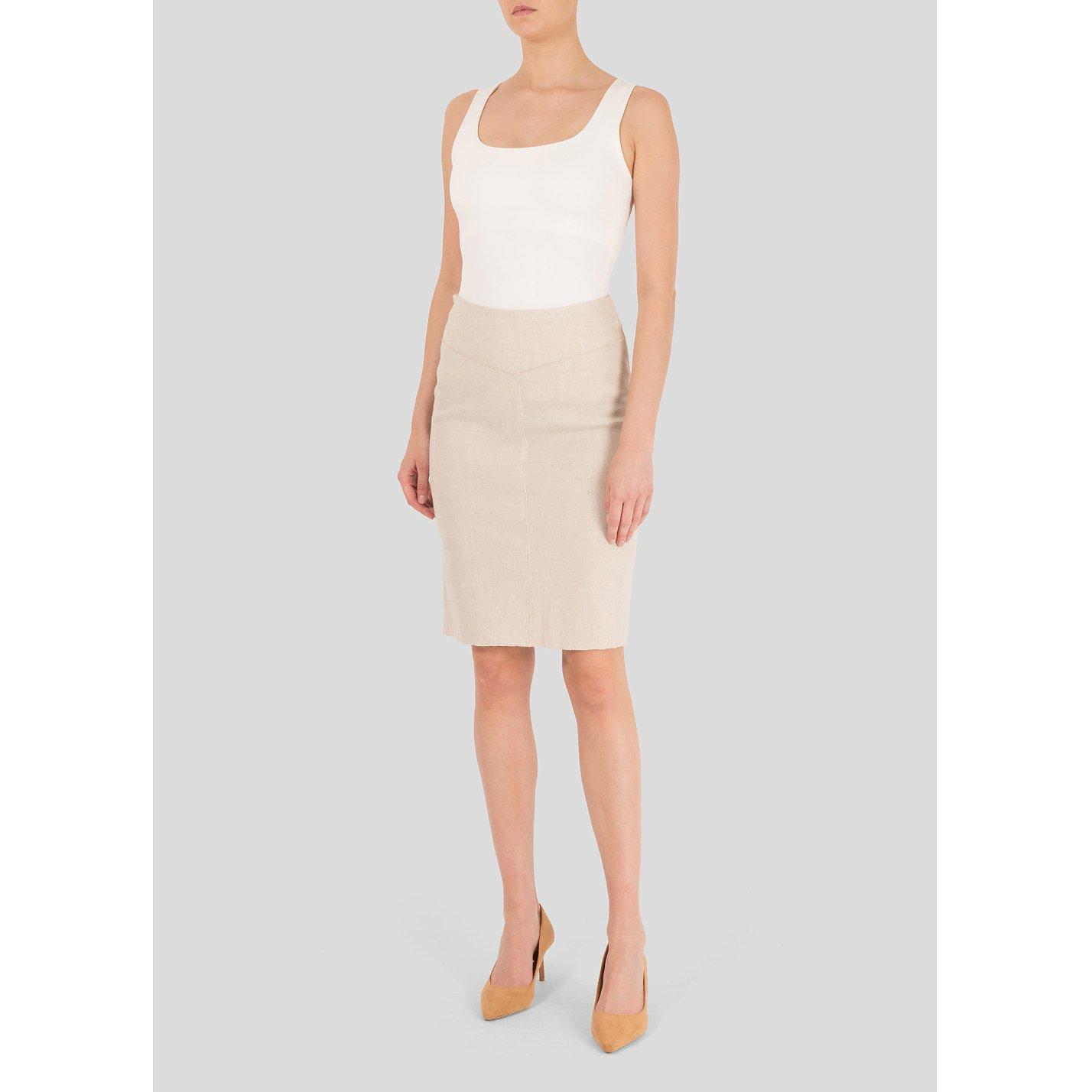 Roland Mouret Ornos Linen Skirt