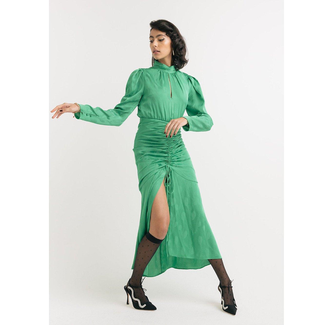 Dark Pink Jade Midi Dress