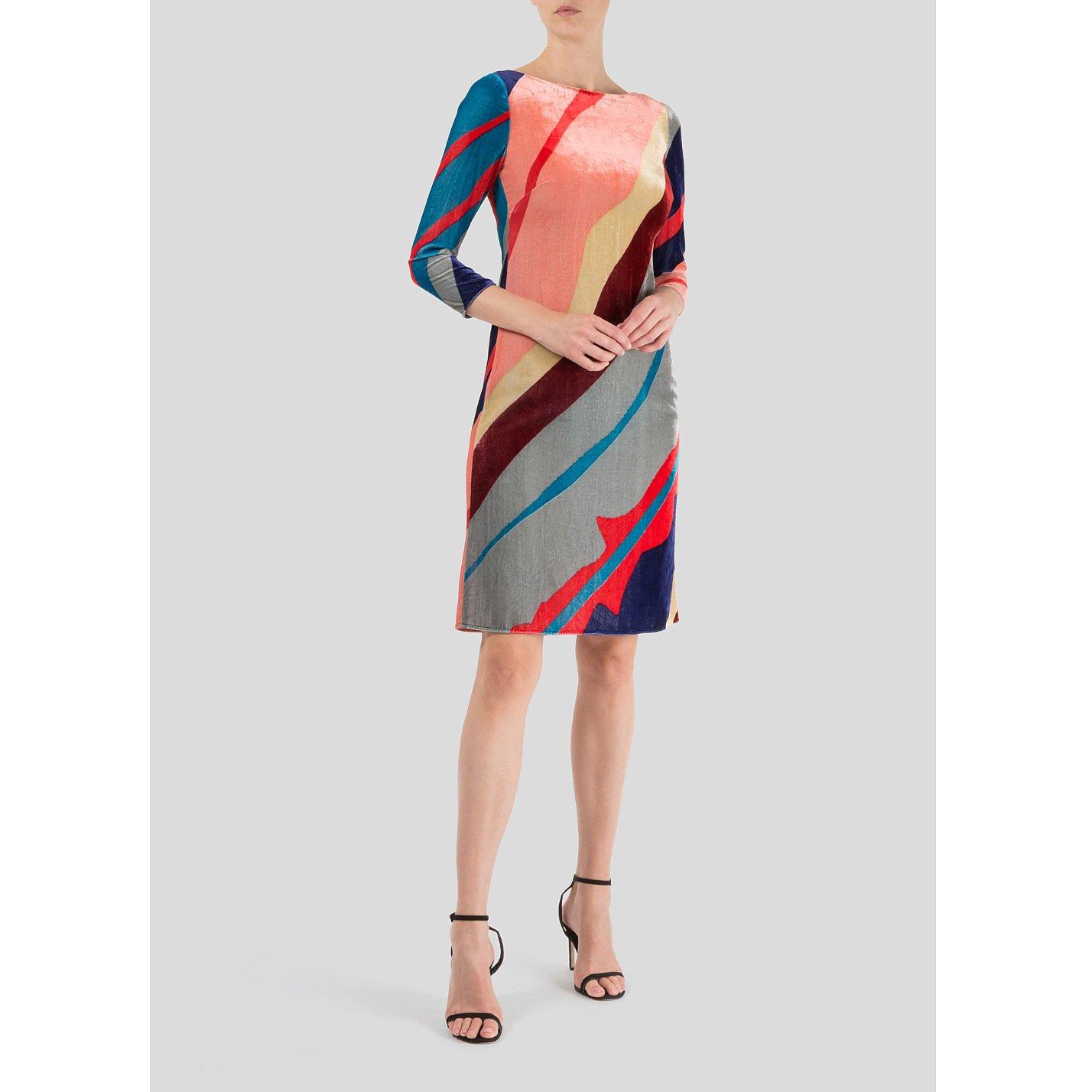 Dhela Velvet Shift Dress