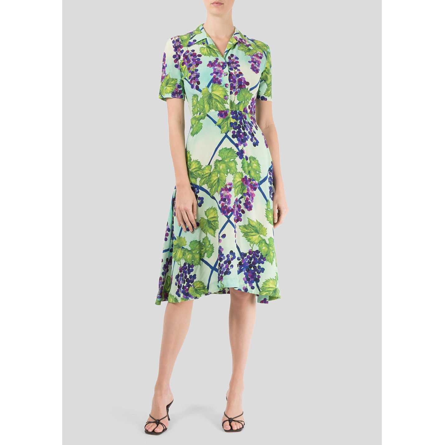 Isolda Grape Print Dress