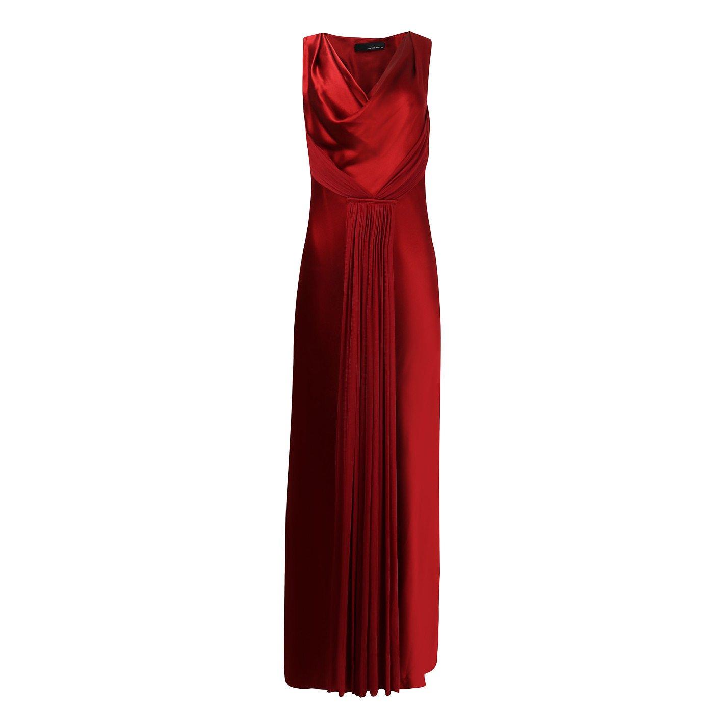 Amanda Wakeley Silk-Satin Draped Gown