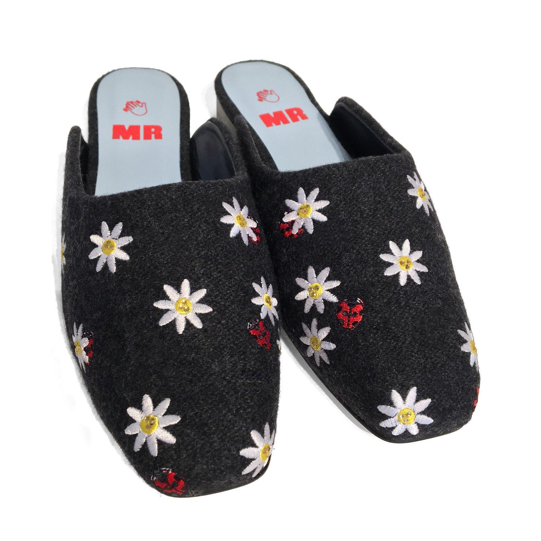 Vintage Vintage Mr Embroidered Slip-On Shoes