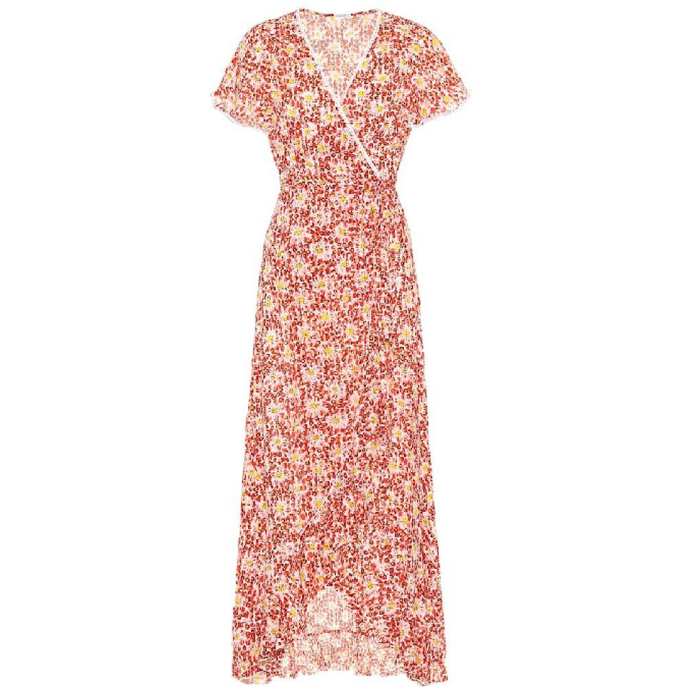 Poupette St Barth Floral Frill Wrap Dress