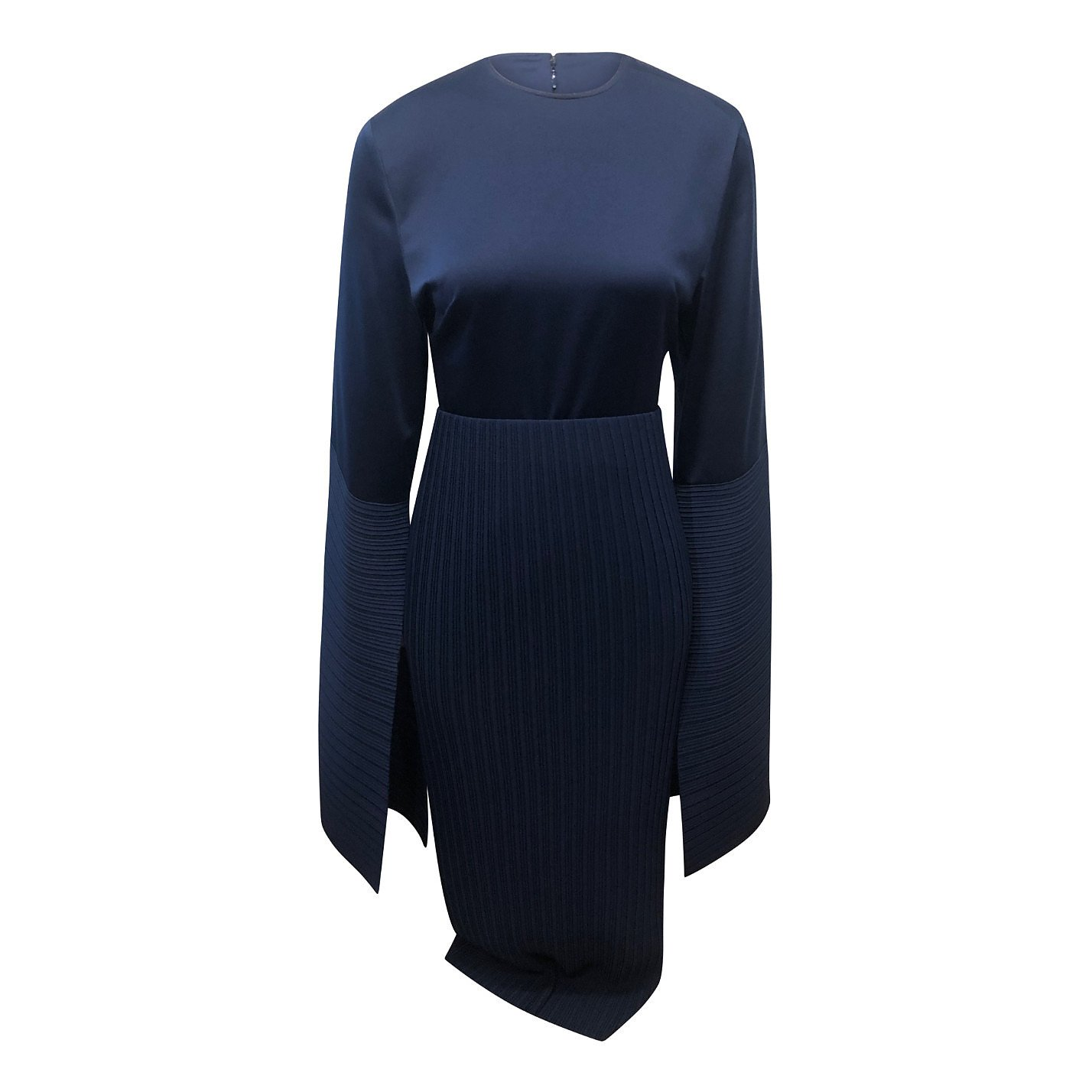 Solace London Satin Dress With Pleated Panels