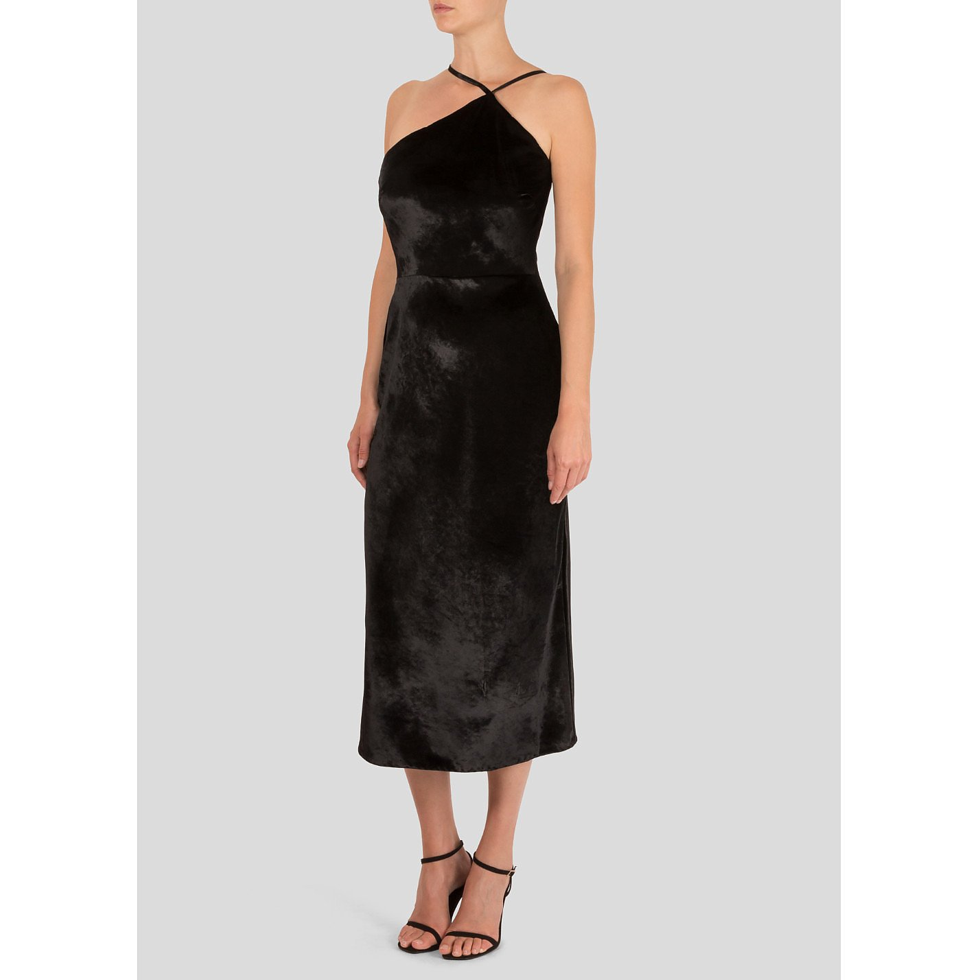 Jason Wu Asymmetric Velvet Midi Dress