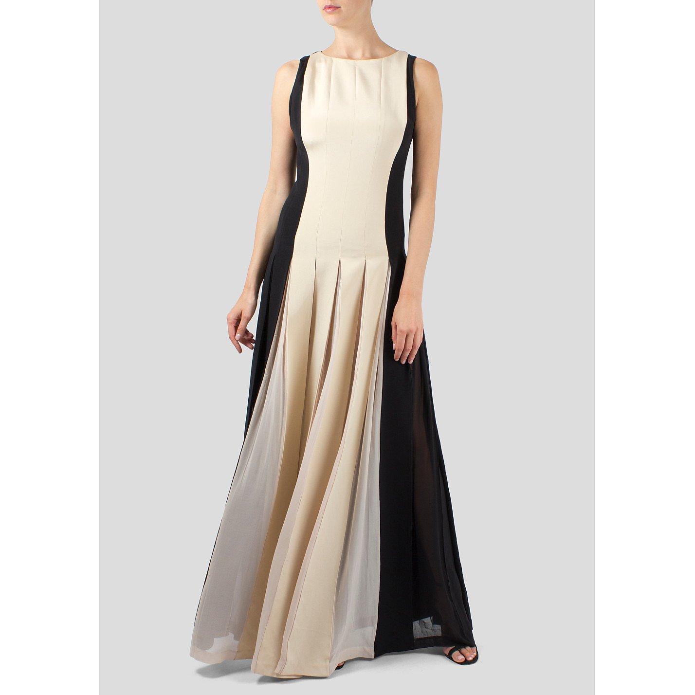 Barbara Casasola Sleeveless Monochrome Gown