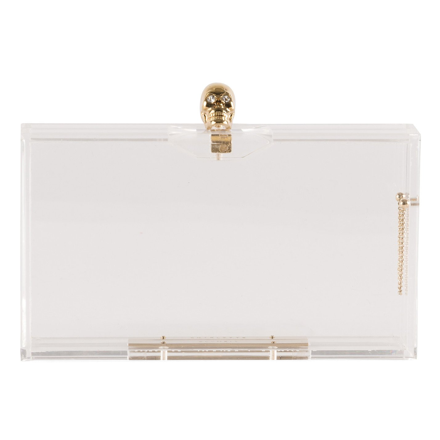 Charlotte Olympia Clear Perspex Skull Clutch