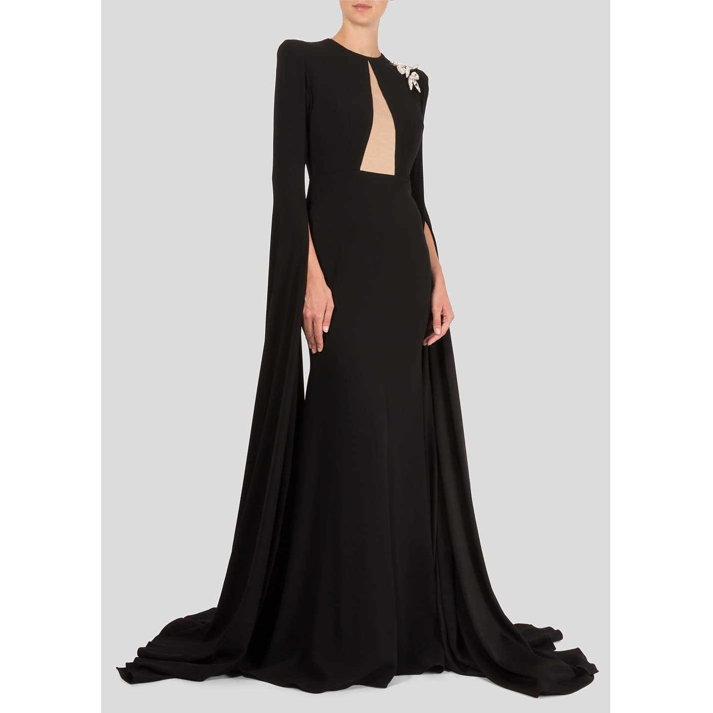 Alex Perry Gown With Exaggerated Sleeves
