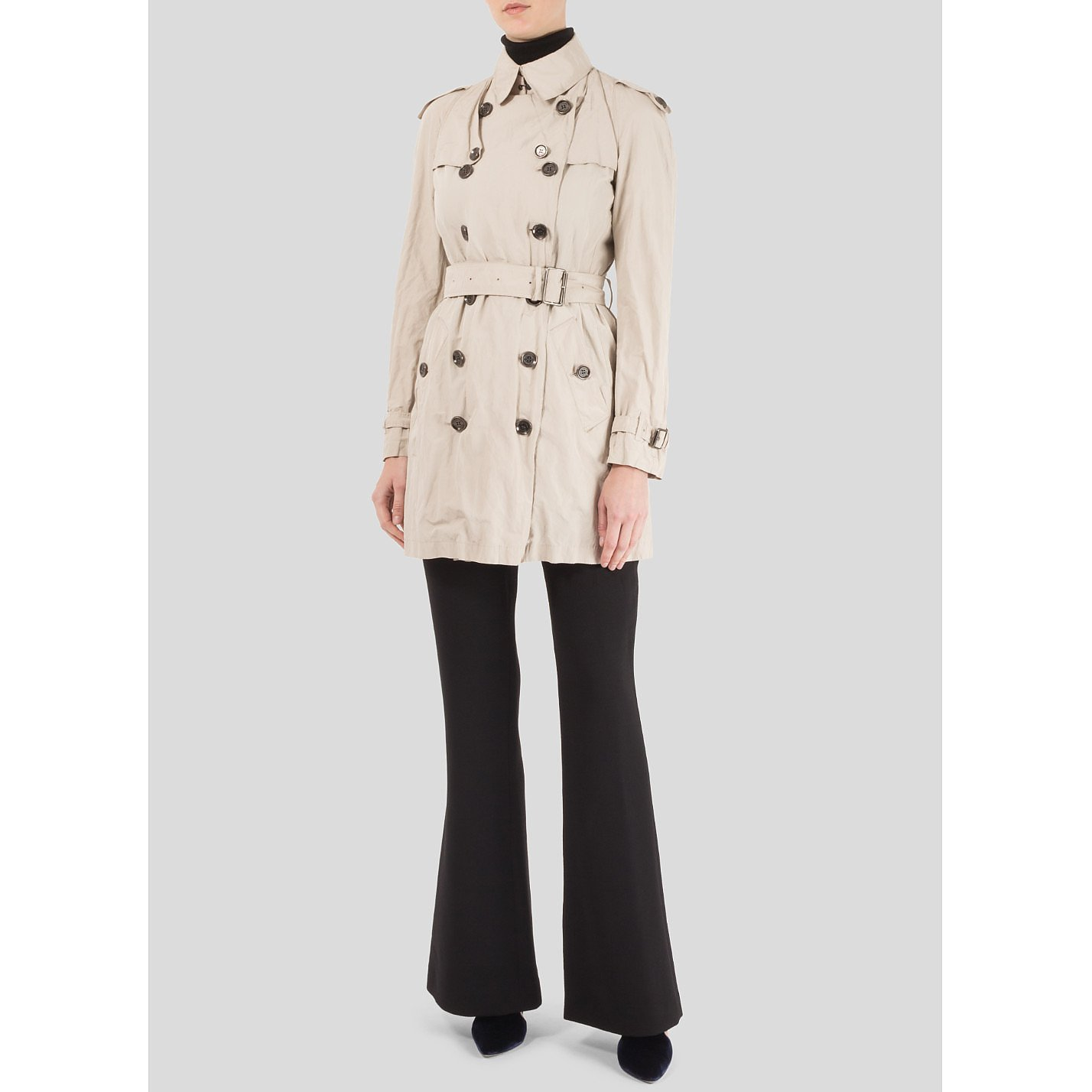 Burberry Crinkle Trench Coat