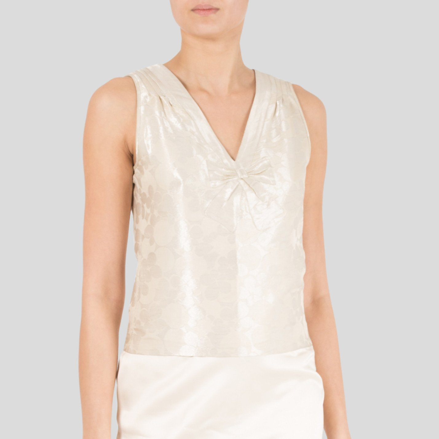 Marc Jacobs Silk-Blend Top With Bow Embellishment