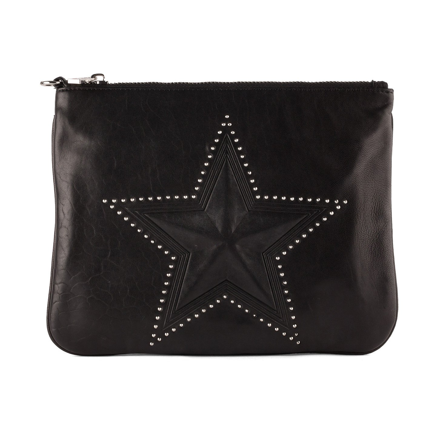 ASH Star-Embossed Leather Clutch