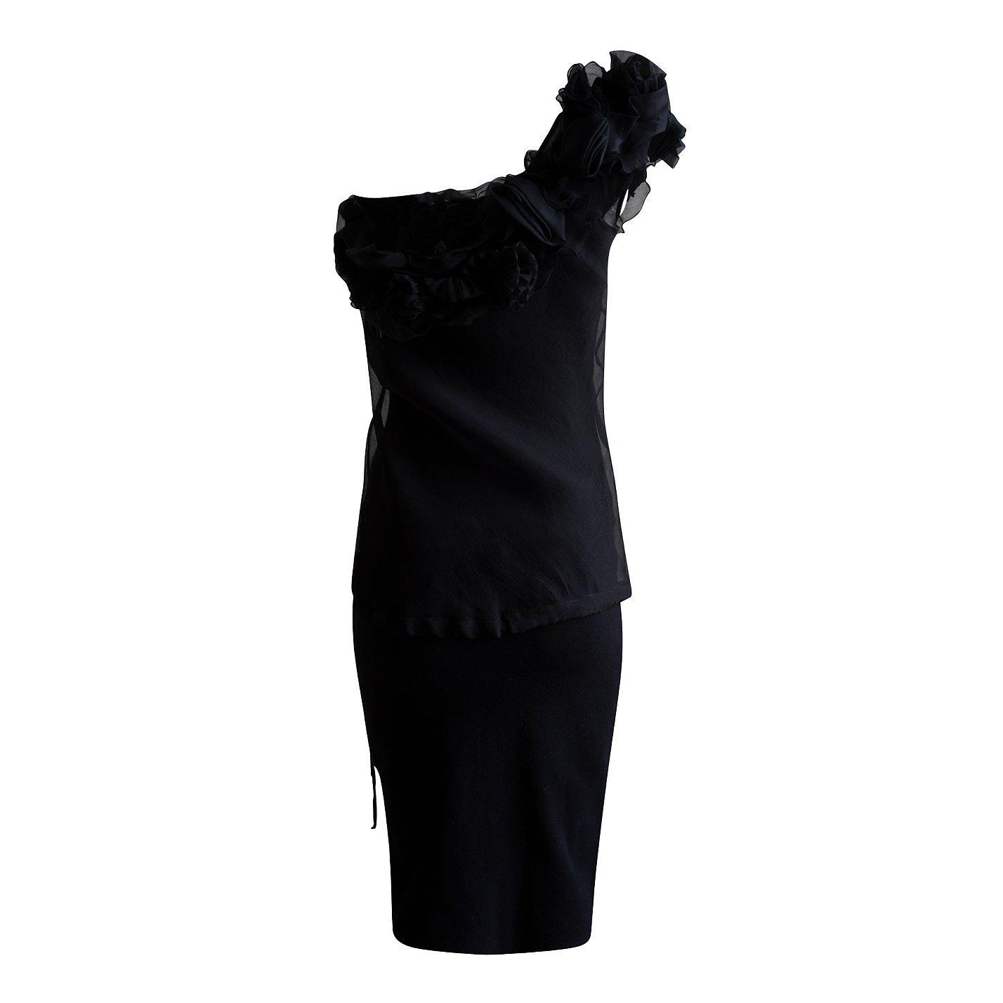Ermanno Scervino One-Shoulder Silk Dress