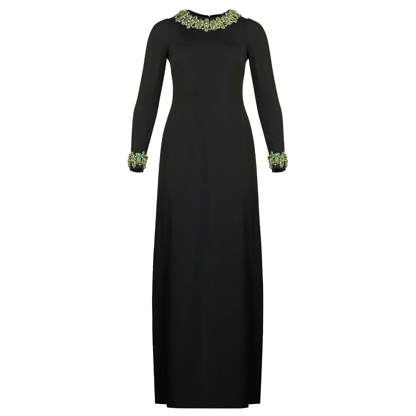DOLCE & GABBANA Embellished Long Sleeved Gown