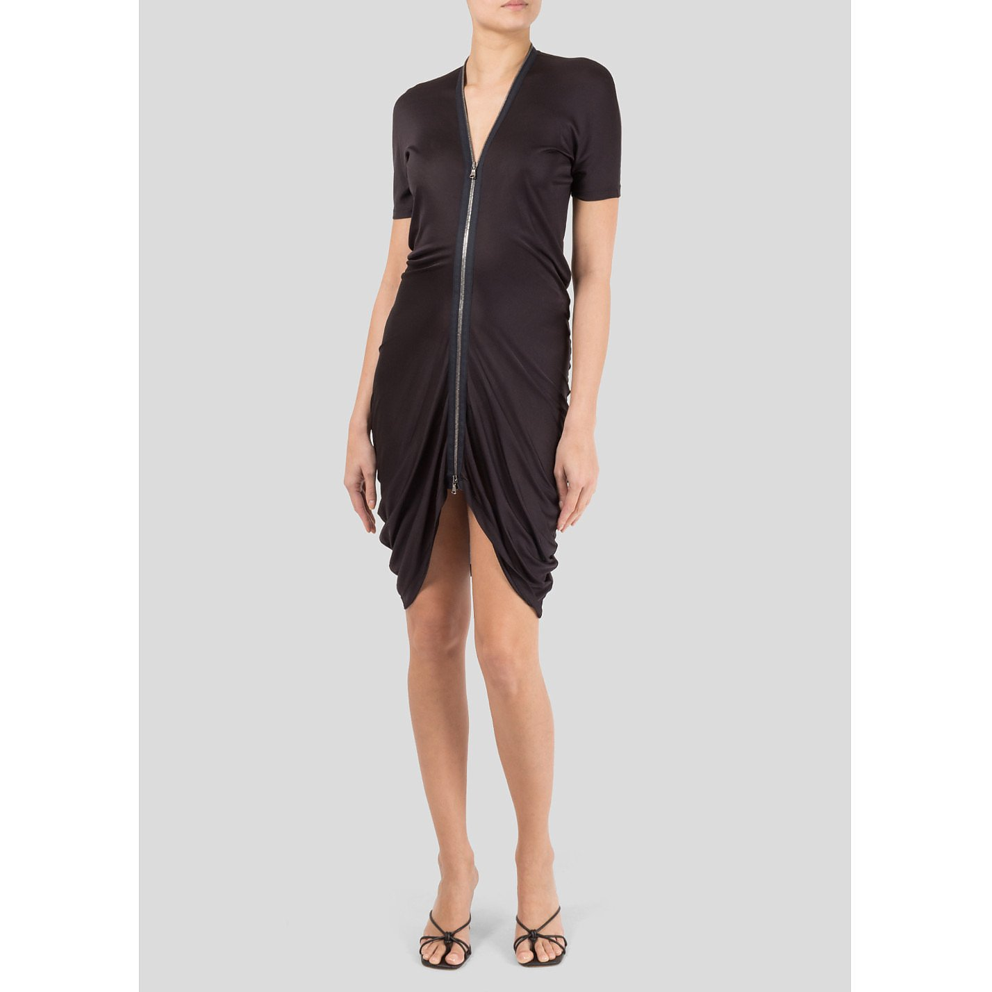 Alexander McQueen Mini Dress with Front Zip