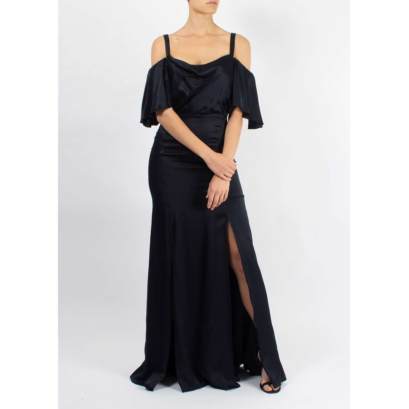 Temperley London Off The Shoulder Silk Gown
