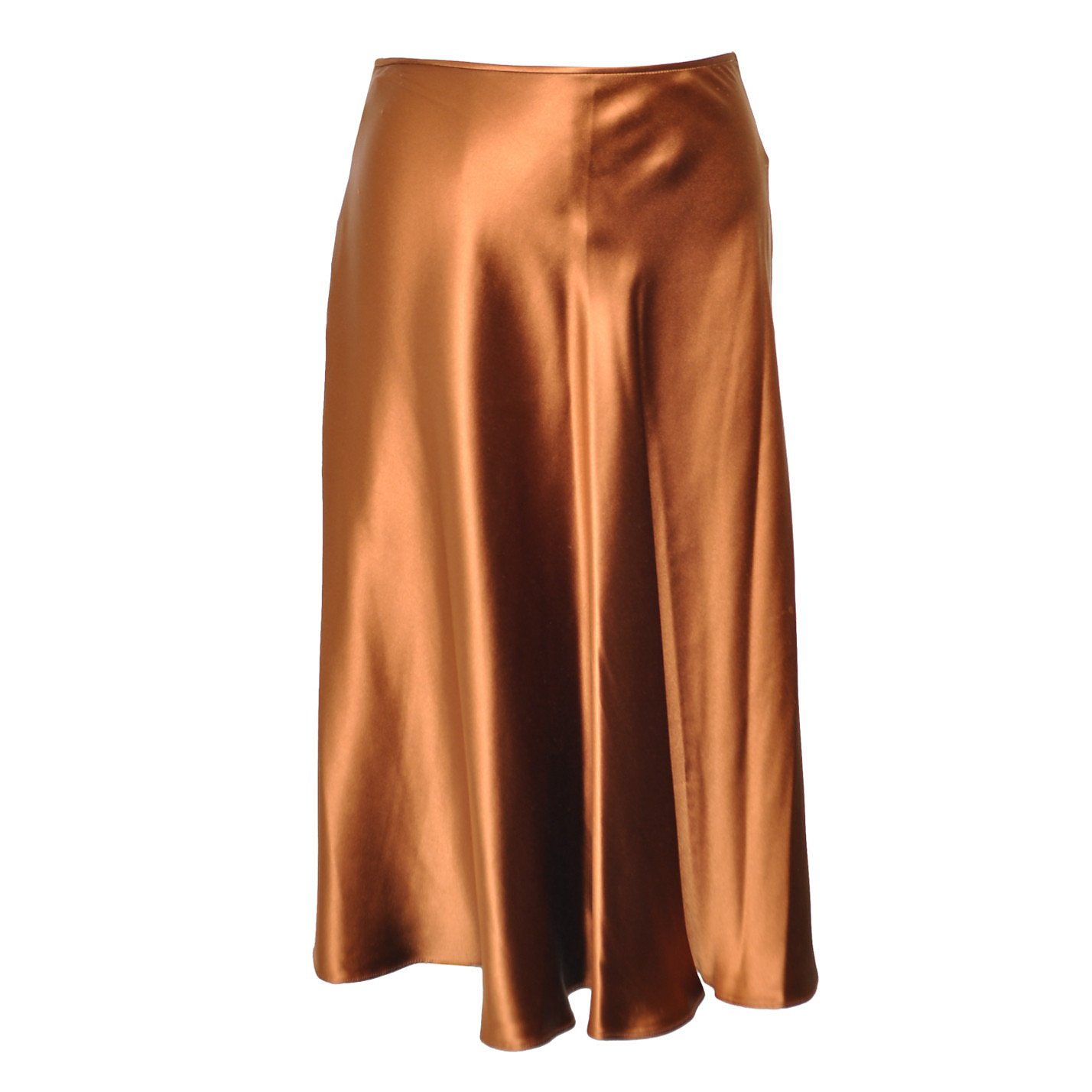 Gucci Metallic Silk Skirt