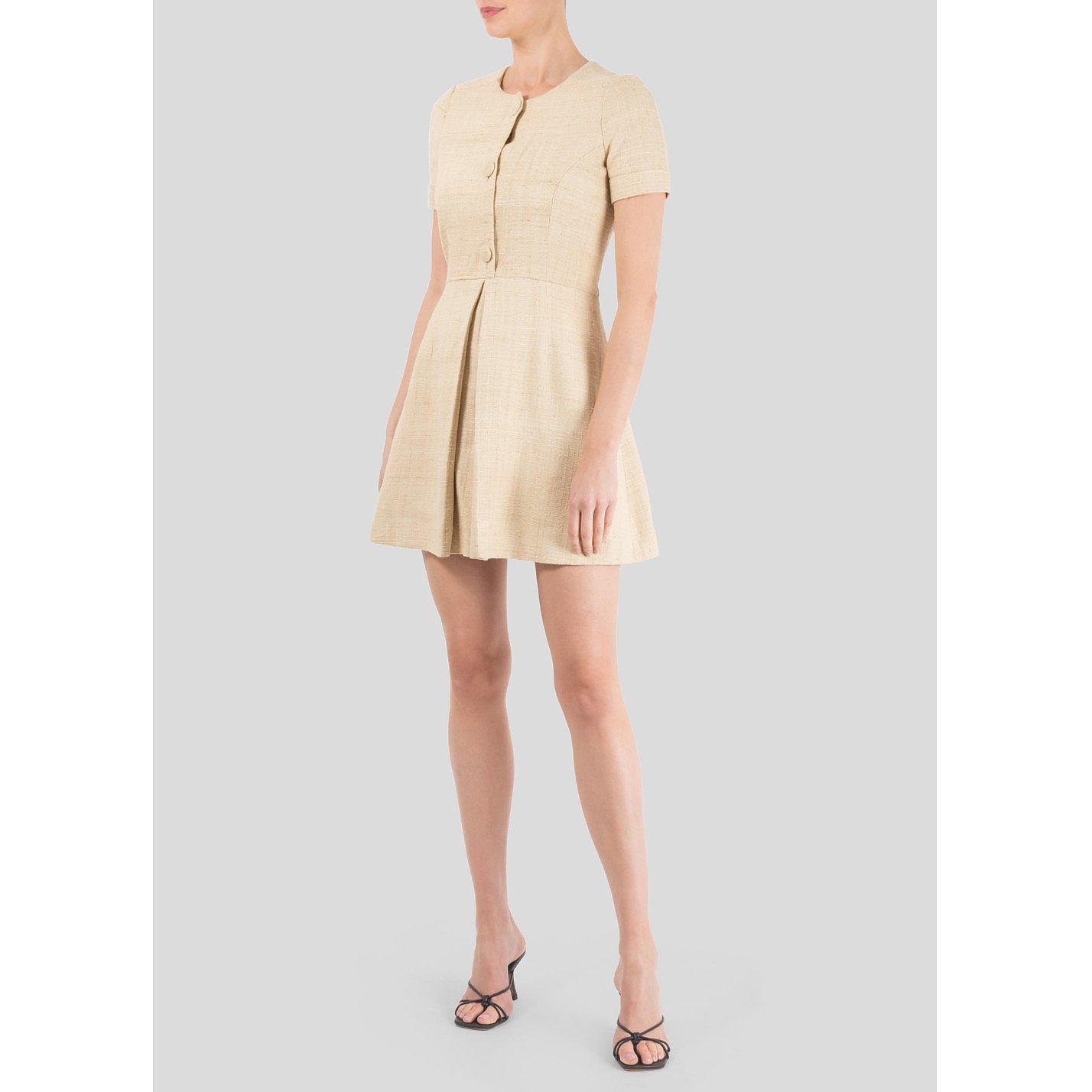 Balenciaga Woven Silk Mini Dress