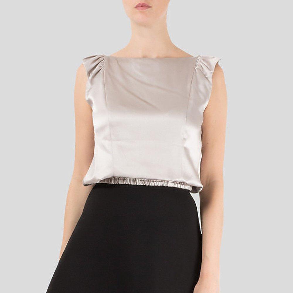 Boyd Sleeveless Silk Crop Top