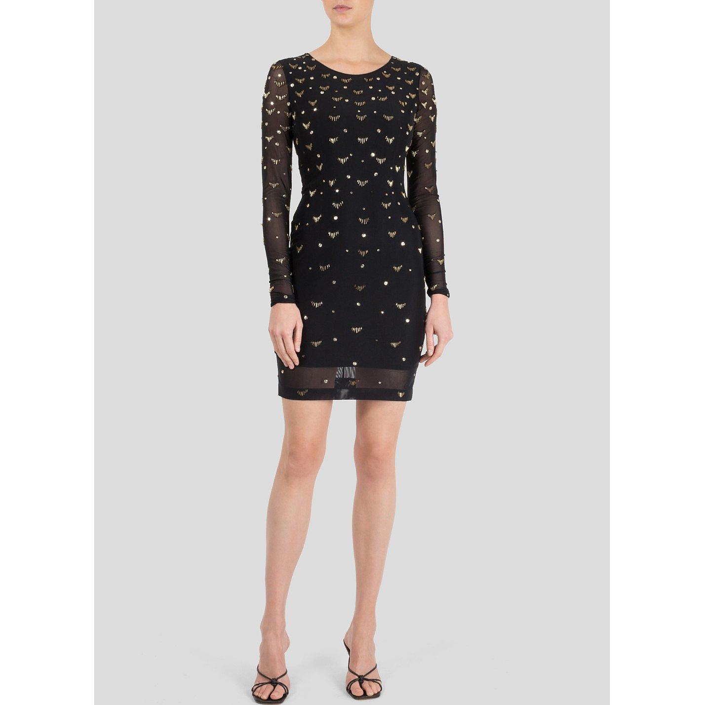 Temperley London Mesh Mini Dress With Sequin Embellishments