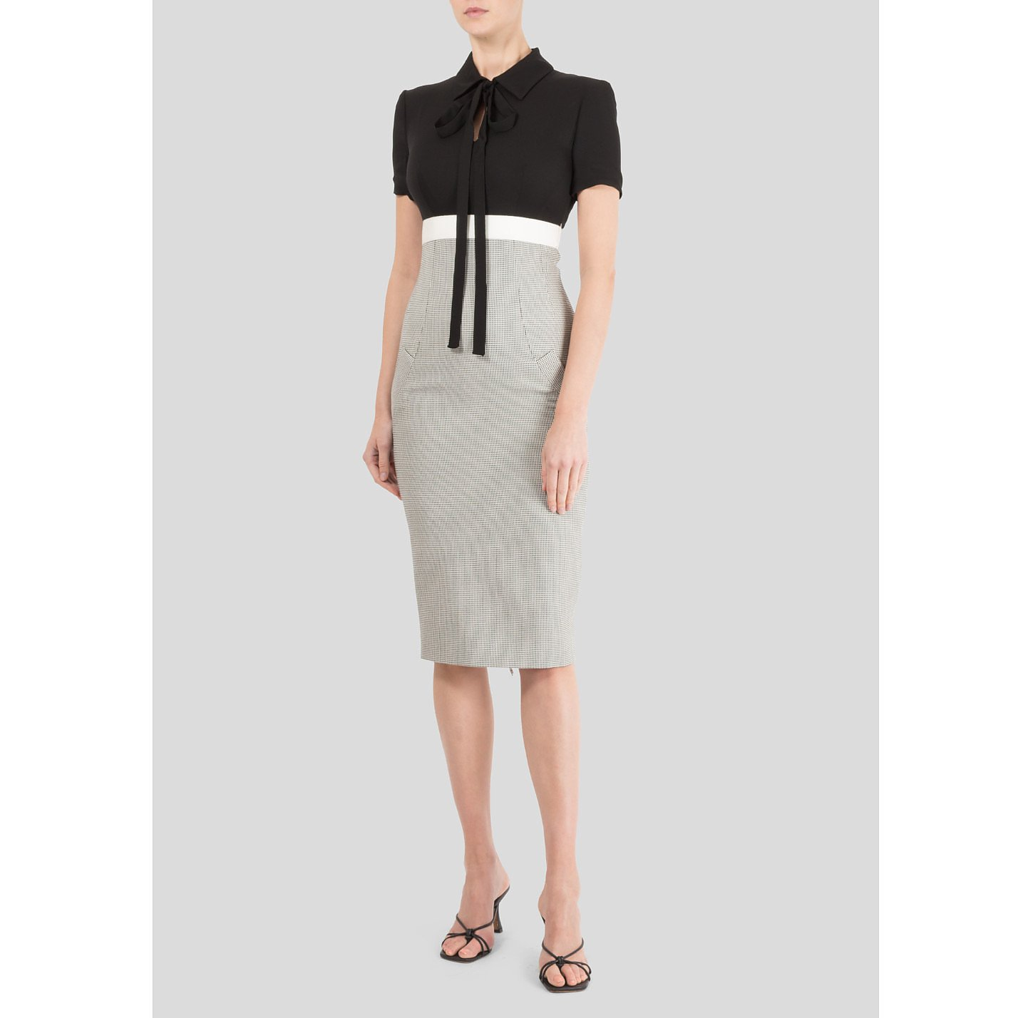 Victoria Beckham Fitted Dress with Shirt Top
