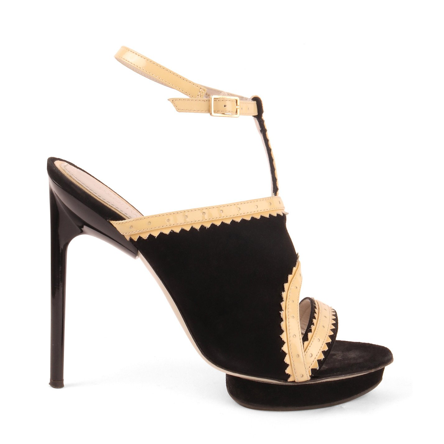 Jason Wu Heeled Suede And Patent Sandals