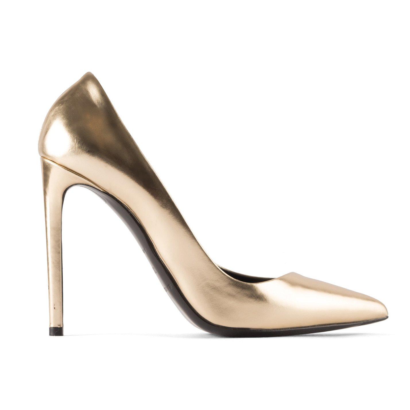Balenciaga All Time Metallic Leather Court Shoes