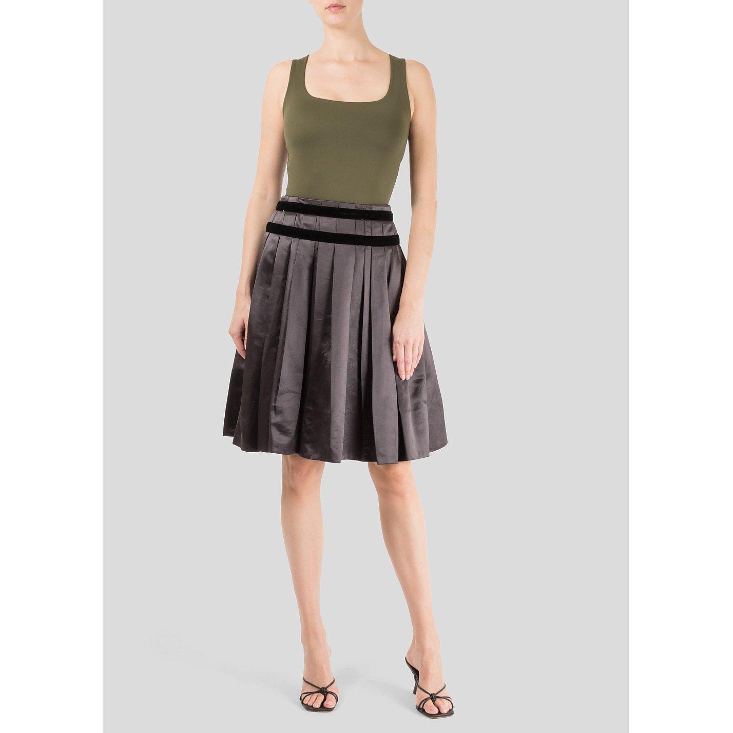 Marc Jacobs Pleated Silk Skirt