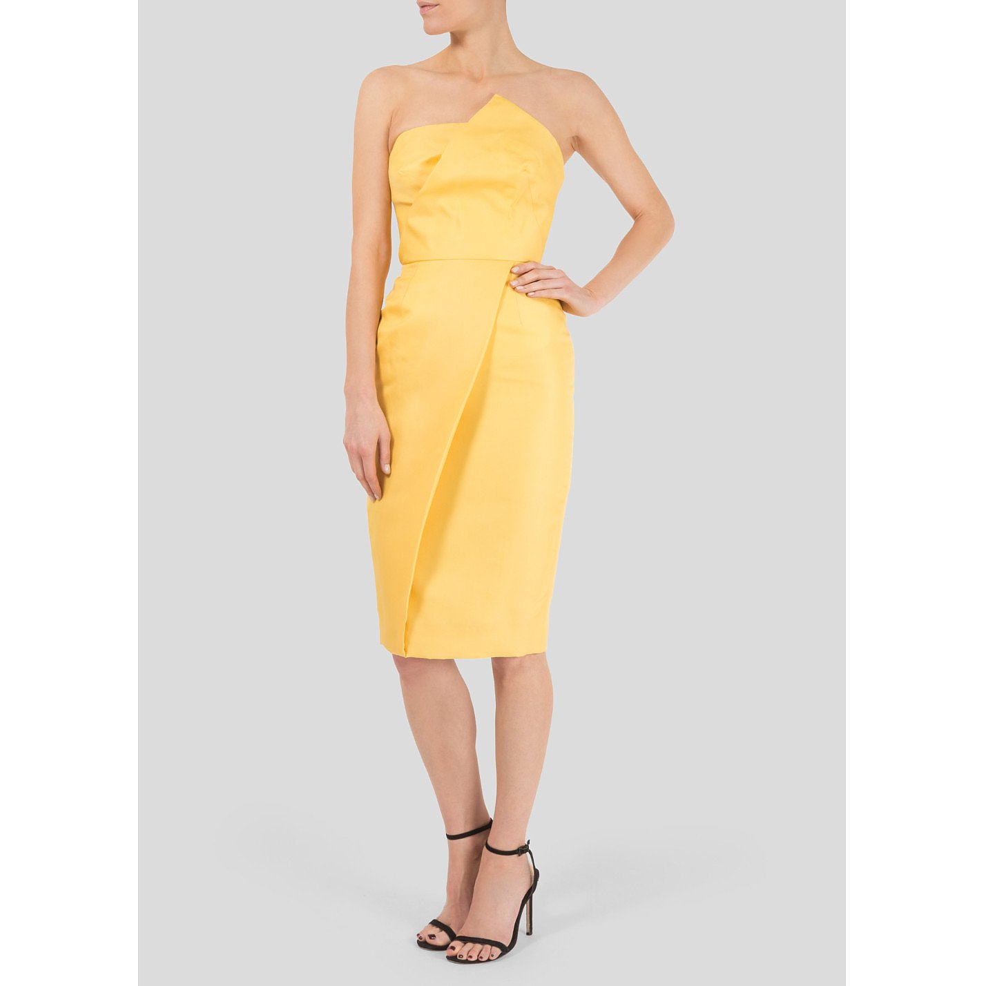 Victoria Beckham Folded Strapless Dress