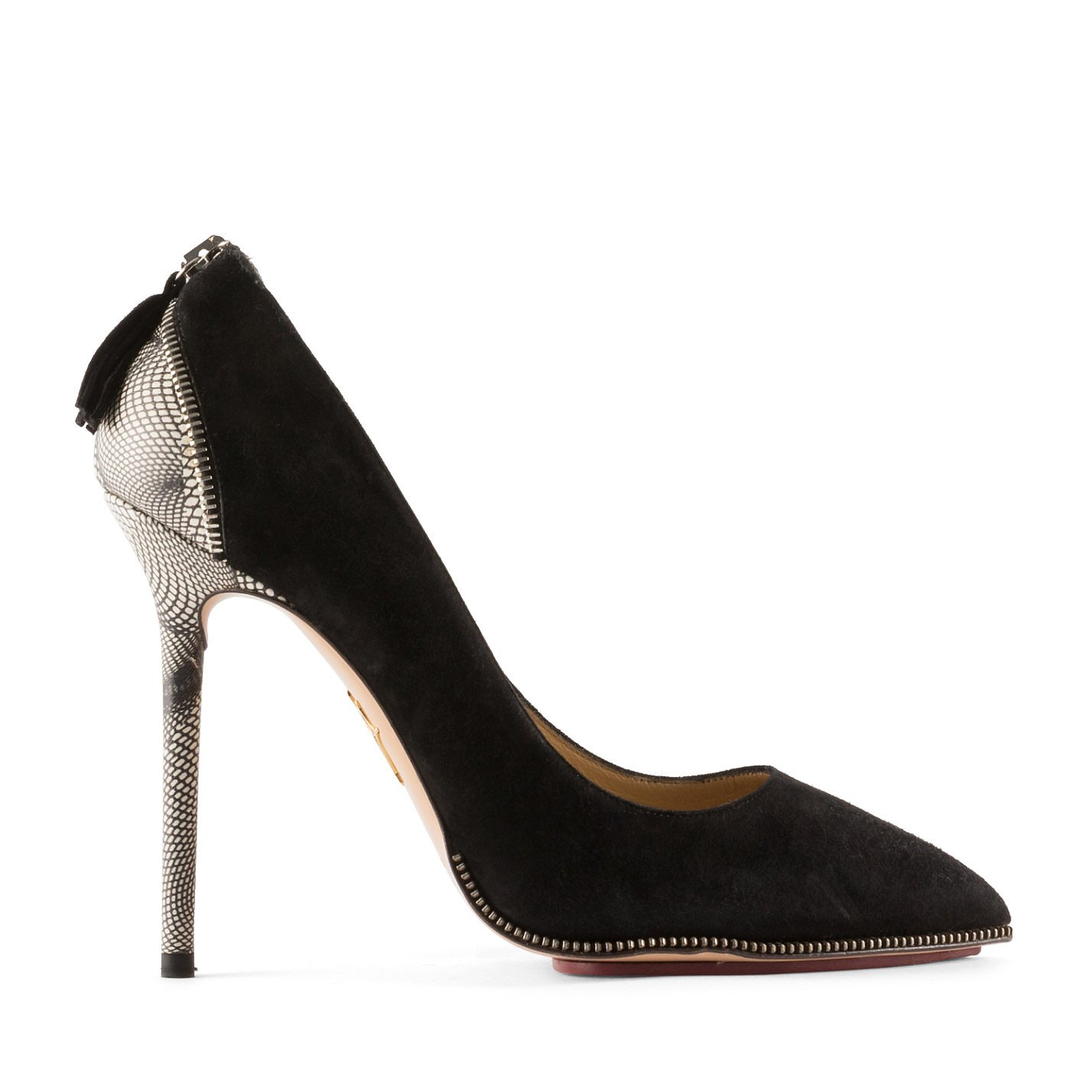 Charlotte Olympia Zip-Trimmed Pumps