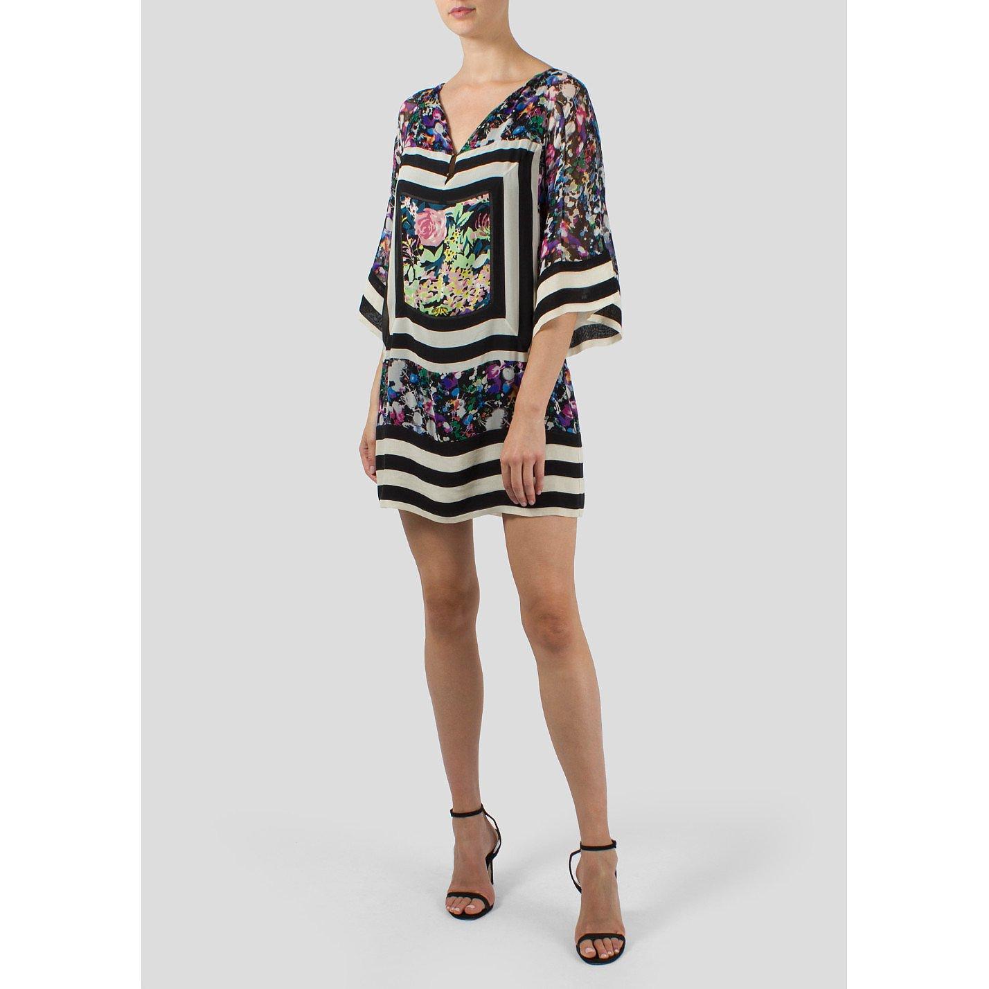 Diane von Furstenberg Printed Kaftan Style Dress