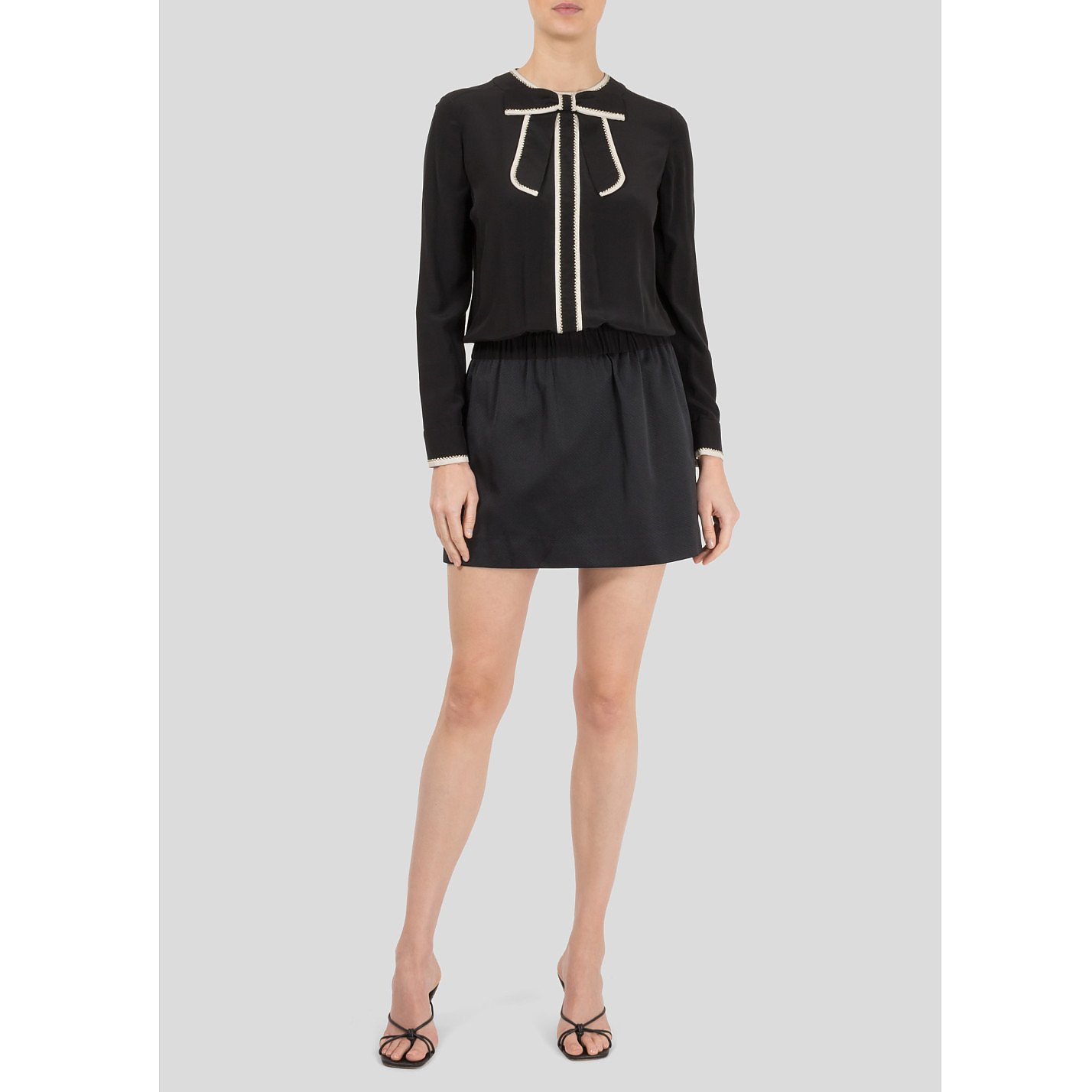 Victoria Beckham Mini Dress With A Bow Neckline