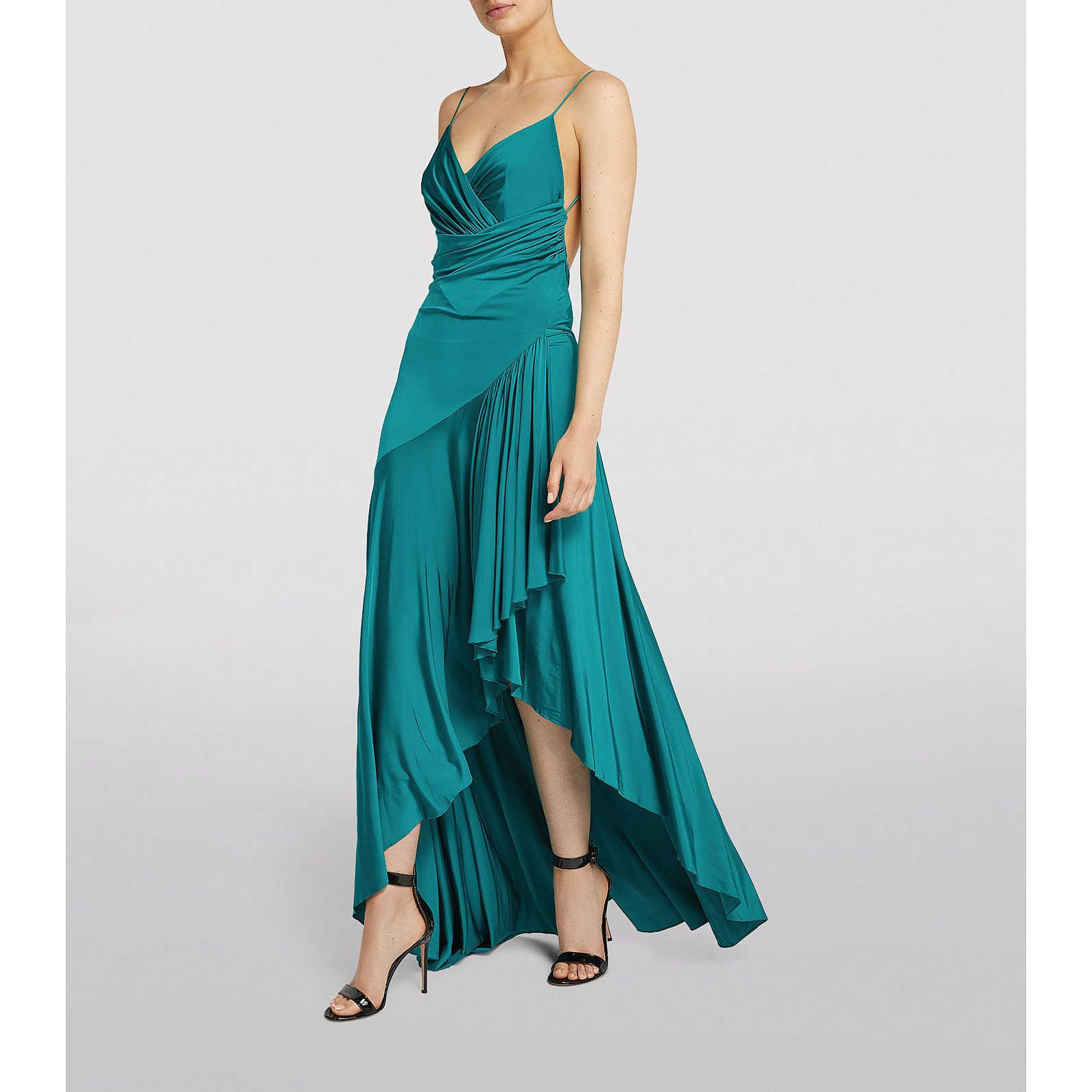 Alexandre Vauthier Shiny Jersey Cami Gown