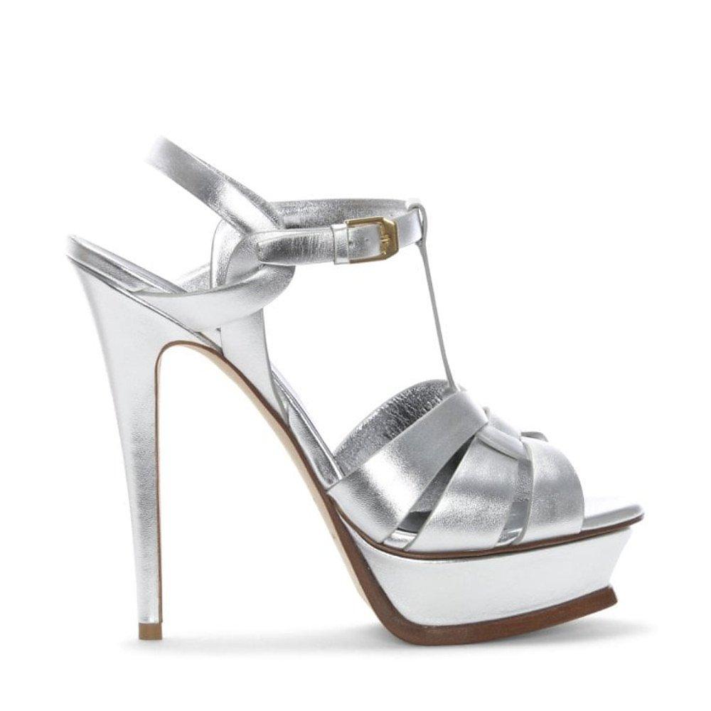 Yves Saint Laurent Tribute Metallic Sandals