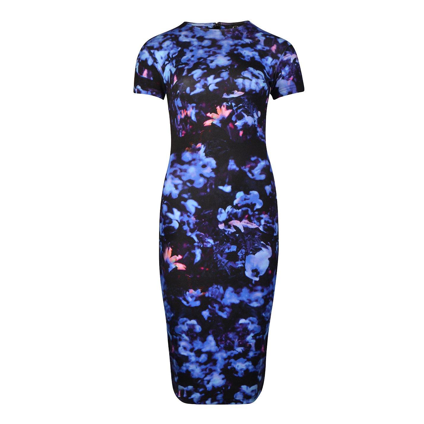 McQ Floral Print Body-Con Dress