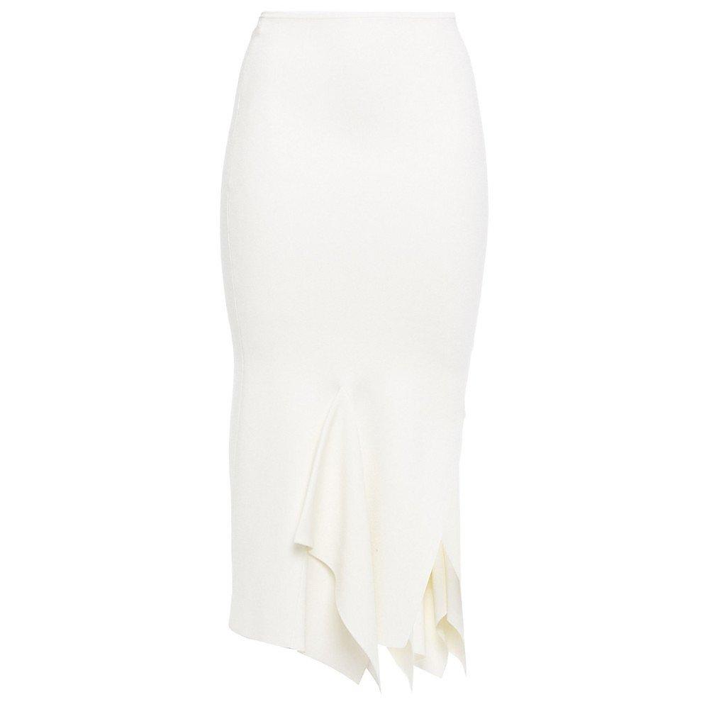 Roland Mouret Lucca Asymmetric Draped Ponte Skirt