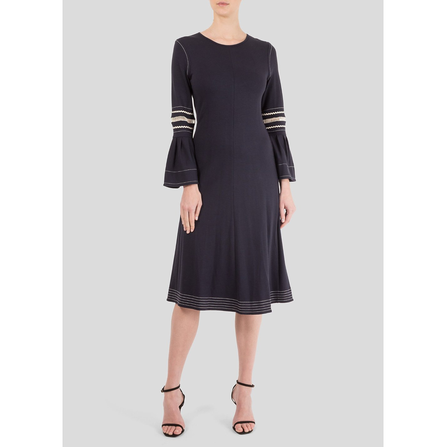 See By Chloé Lattice-Trimmed Jersey Midi Dress