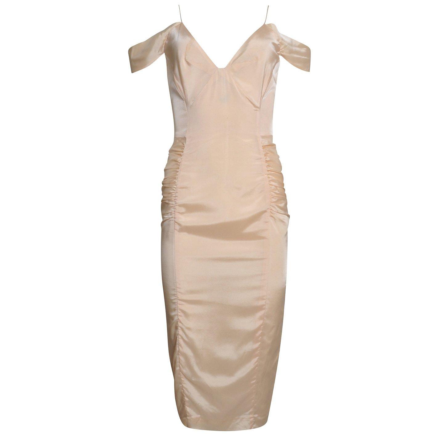 Jitrois Satin Fitted Midi Dress