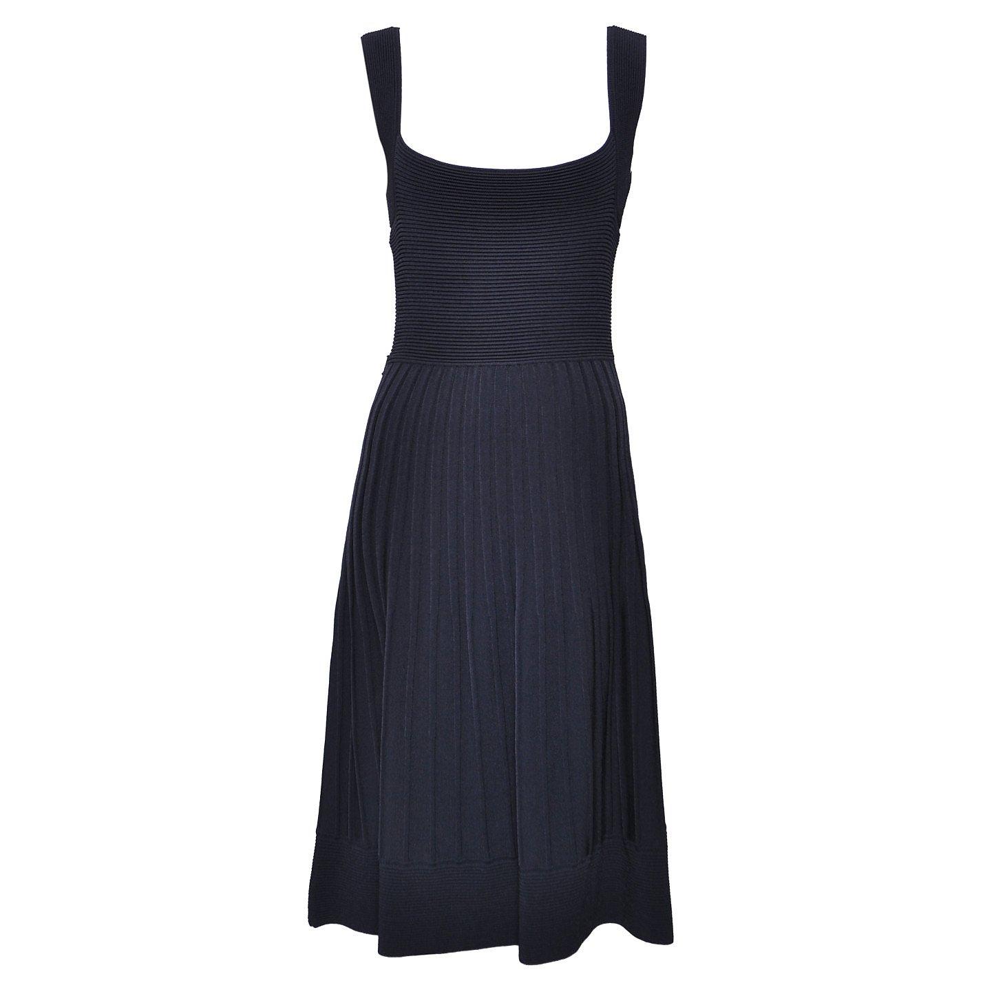 Carolina Herrera Ribbed Sleeveless Dress