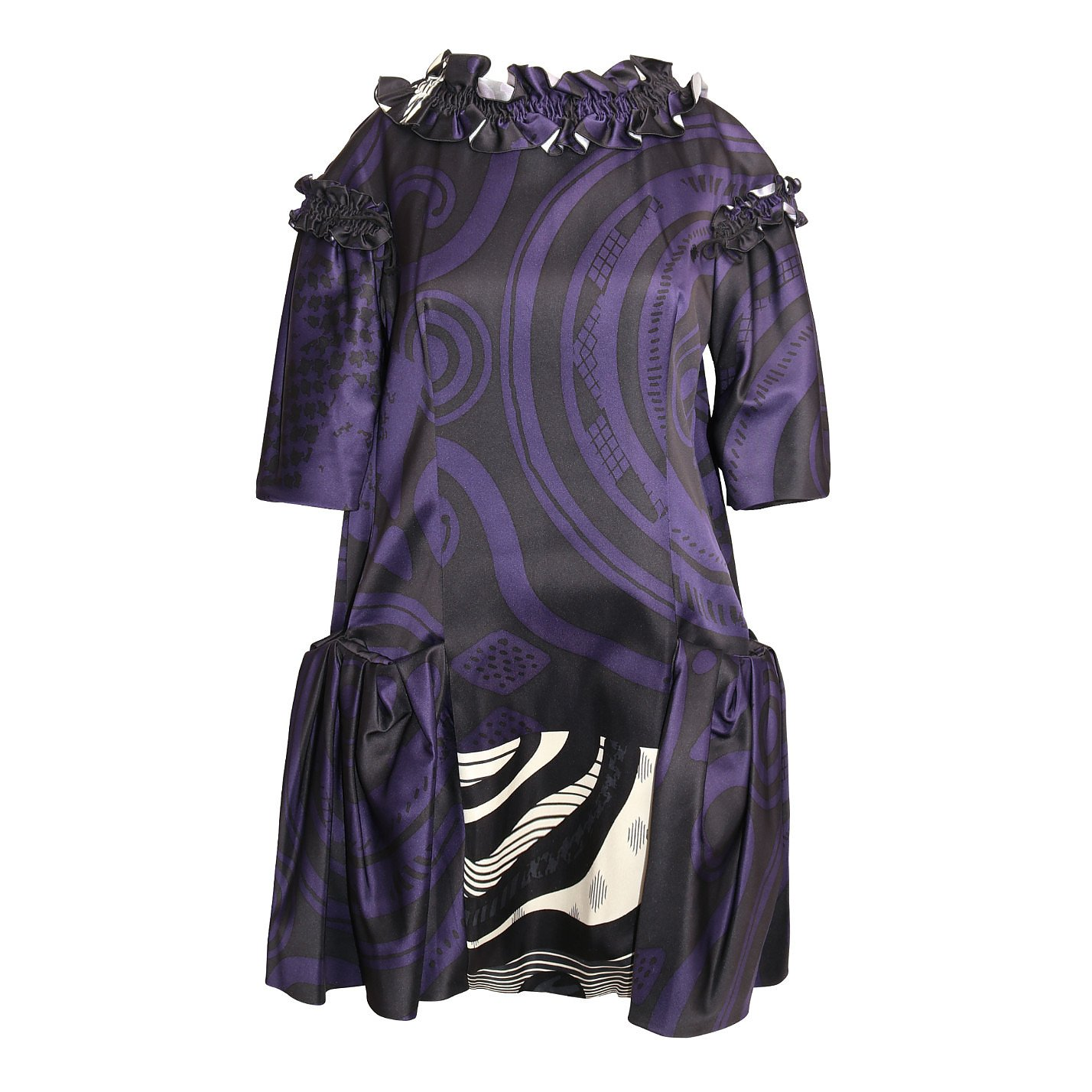Christian Lacroix Printed Dress With Ruffle Details