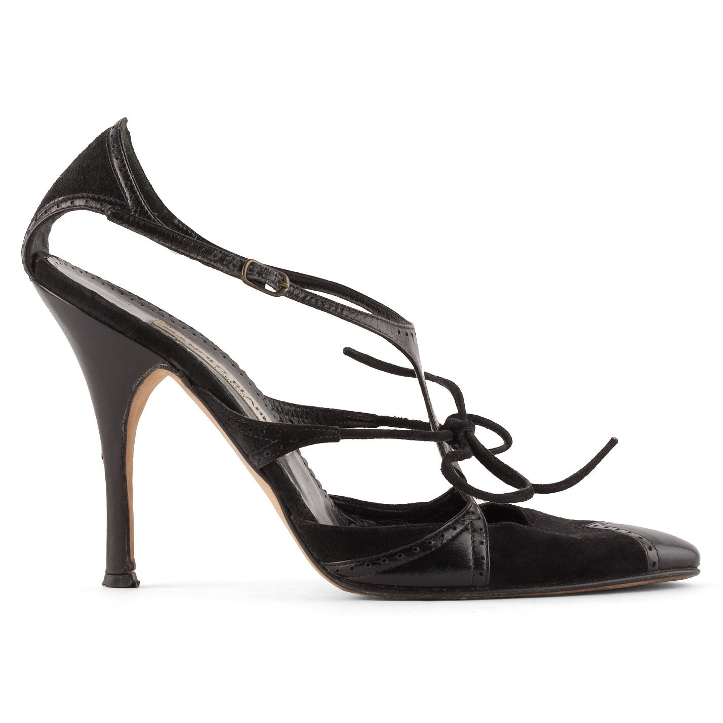 Manolo Blahnik Suede And Leather Pumps