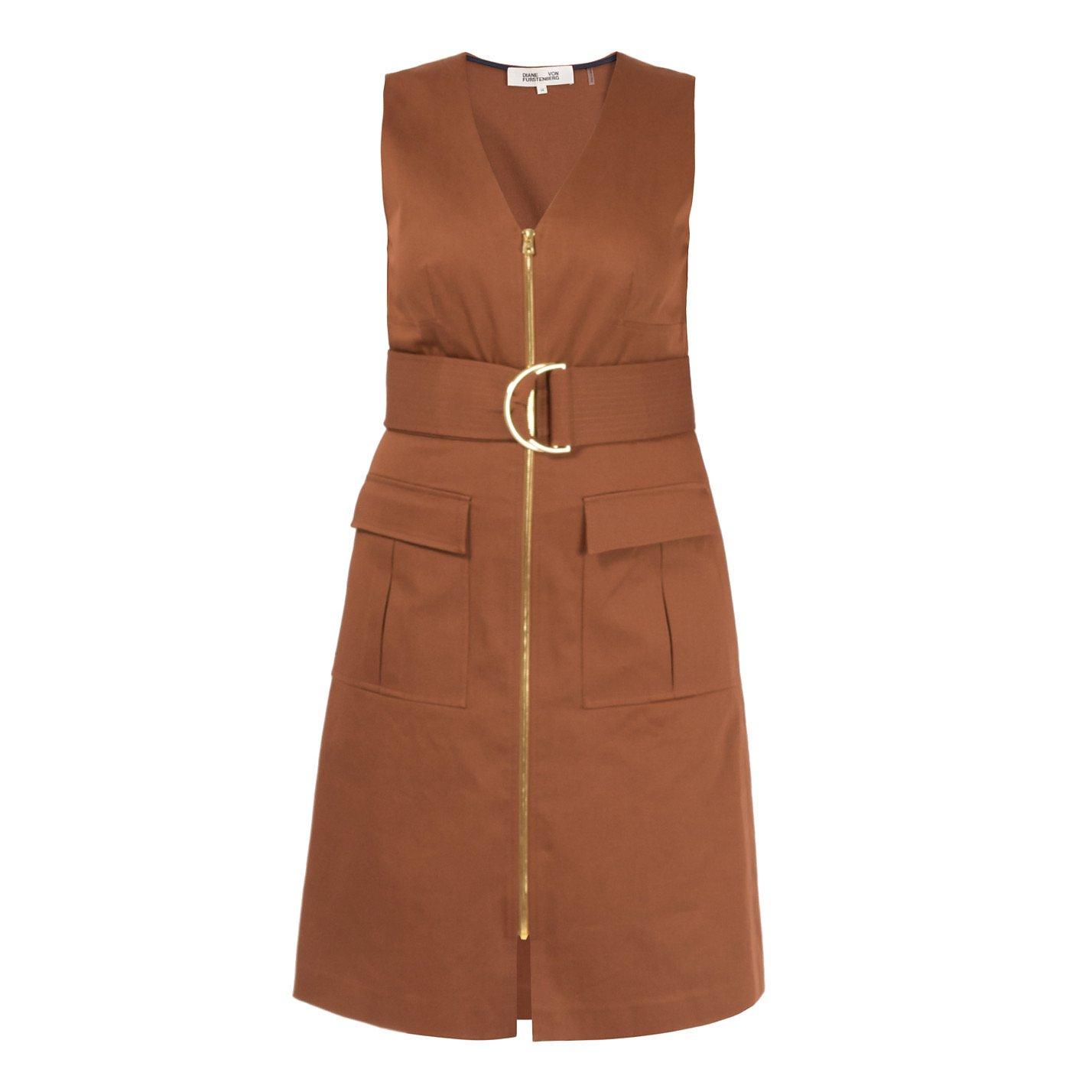 Diane von Furstenberg Sleeveless Belted Dress