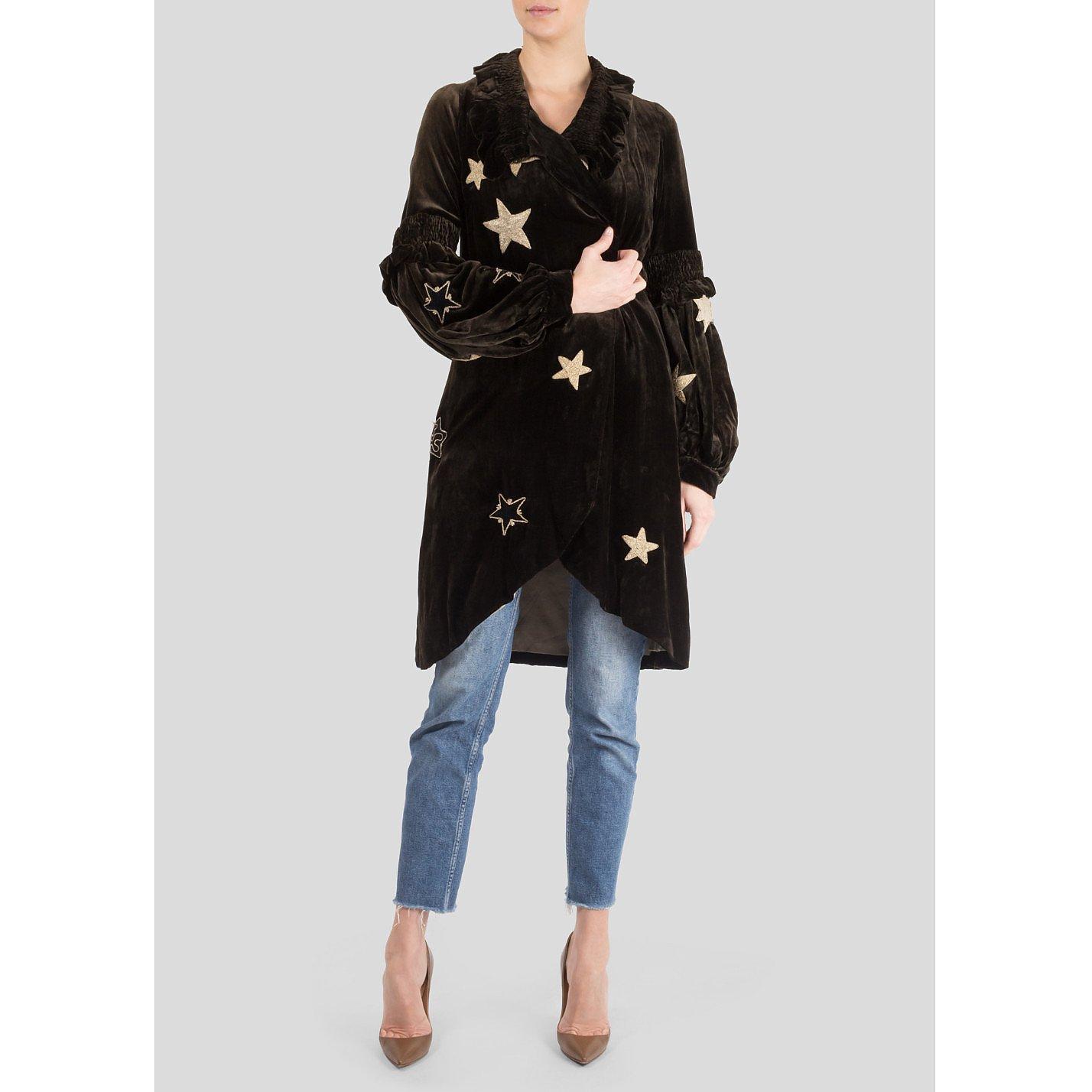 Vintage Velvet Star Coat
