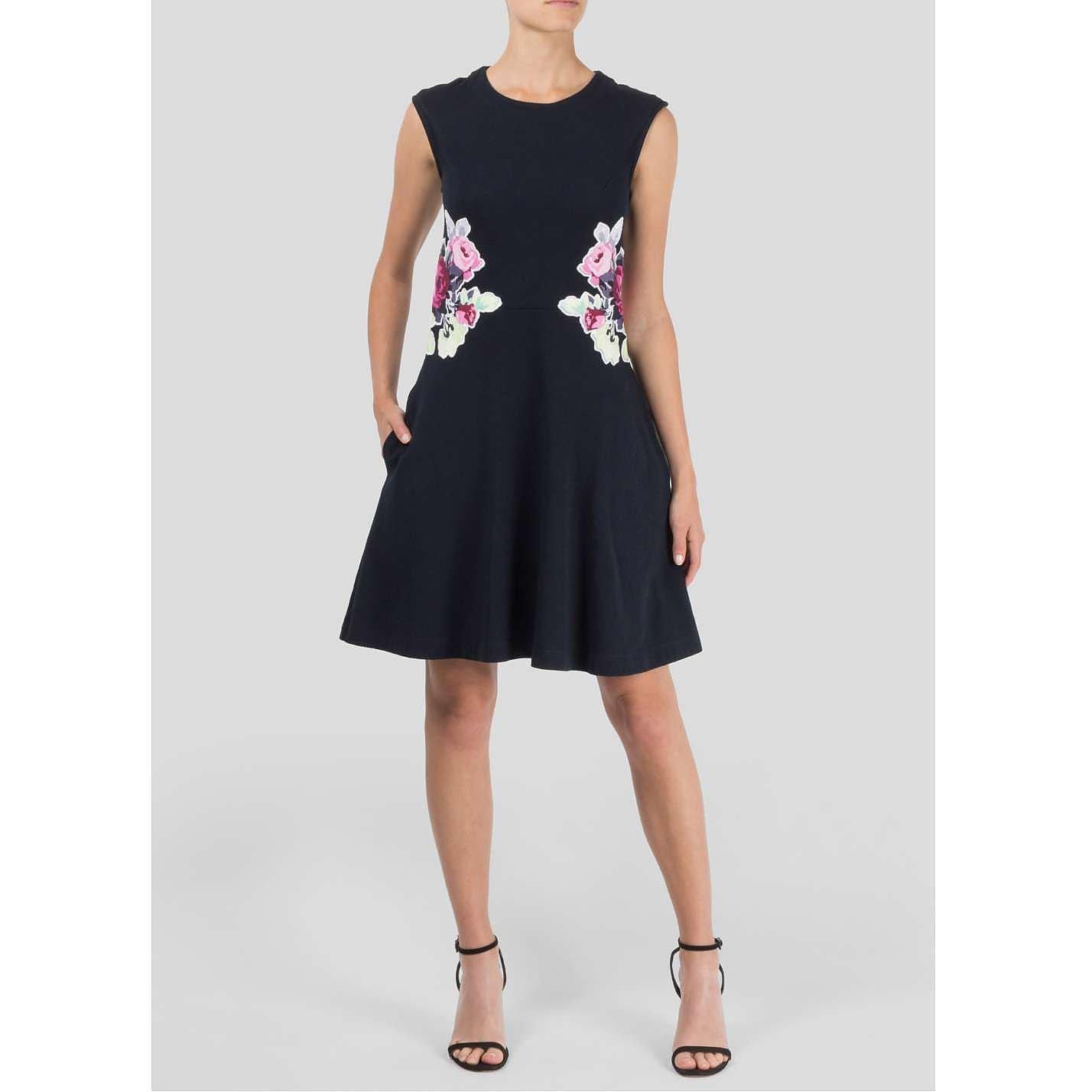 Carven Floral-Panel Dress